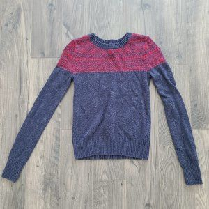 Red and Navy Cozy Sweater